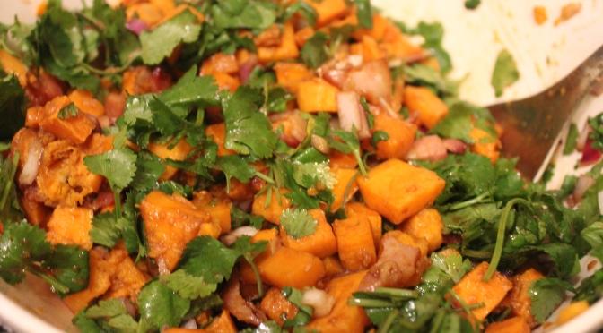 Warm Yam Salad